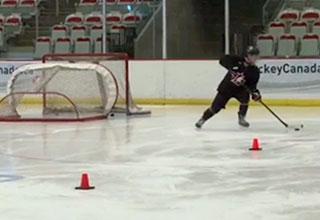 Image of player performing drills.